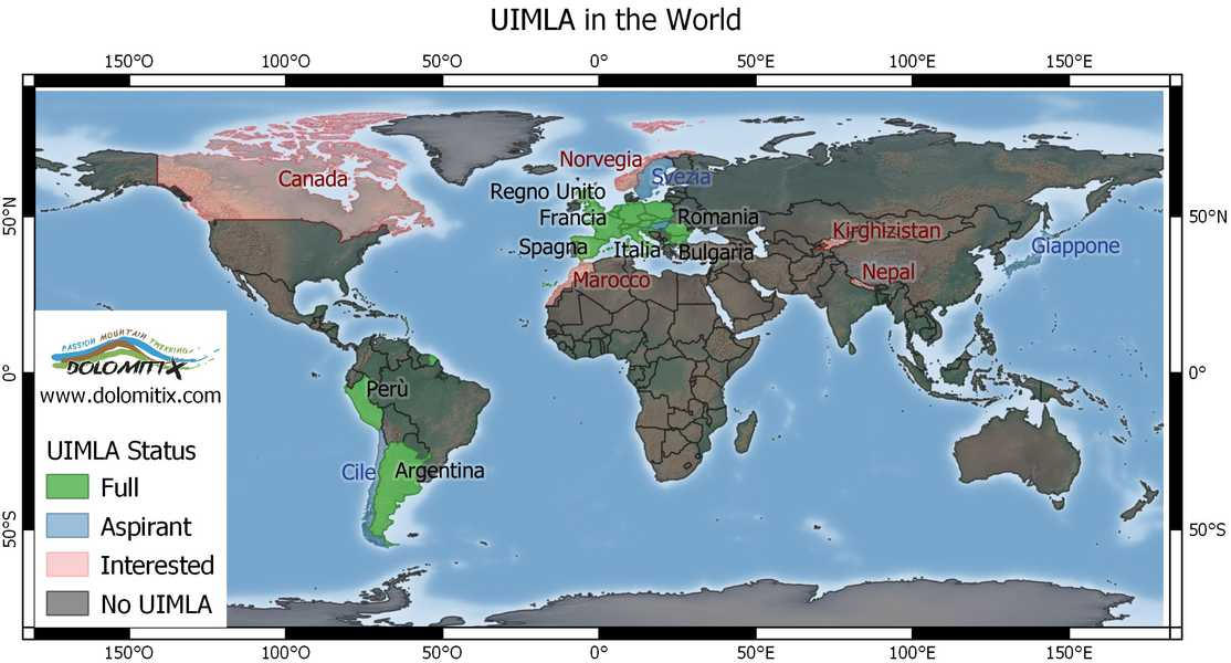 UIMLA nations in the world