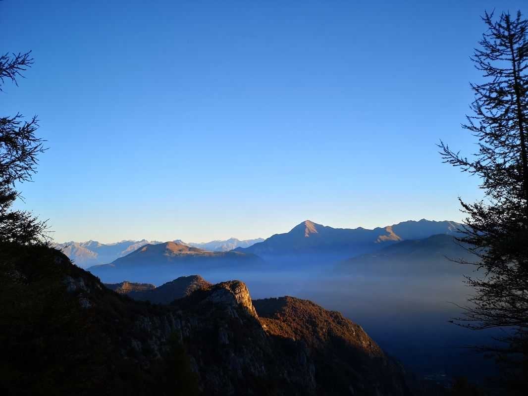 Climbing the Grigna at dawn.