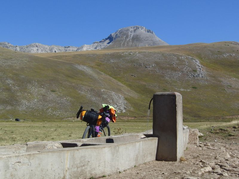 Drinking trough and Monte Camicia